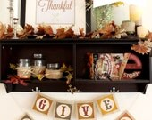 Fall & Thanksgiving Banner Letters - Instant Download PDF