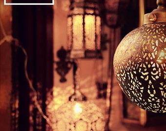 A Traveler's Glow // 5x7 Moroccan Lantern Print // Travel Photography