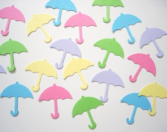 50 Umbrella punch die cut embellishments - No446