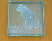 """Steuben Glass RCA Records """"Nipper"""" Paperweight"""