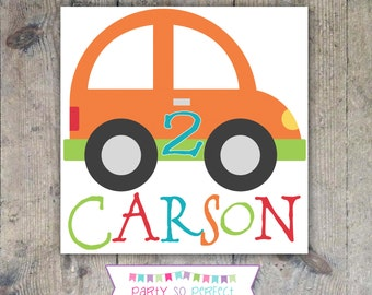 T-SHIRT IRON-ON Decal Transfer - Cute Cars Printable