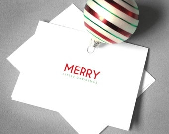 Religious Holiday Card. Printable Christmas Card. Printable Holiday Card. Merry Little Christmas. Printable Card. Instant Digital Download.