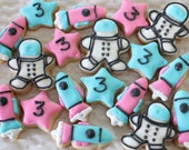 5 dozen Astronaut, Rocket and Stars Mini Cookies