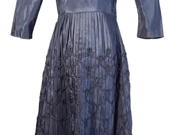 1950s Blue Tea Length Dress BERNETTI Original