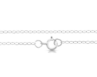 """Sterling Silver 1.5mm 24"""" Cable Chain light and delicate - 1pc Made in USA 10% discounted lowest price (5683)/1"""