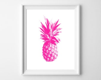 Pineapple Love - Fun and modern PRINTABLE INSTANT DOWNLOAD 8x10 Digital Art.
