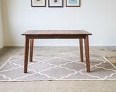 Small Solid Walnut Ventura Dining Table - Customizable with Leaves