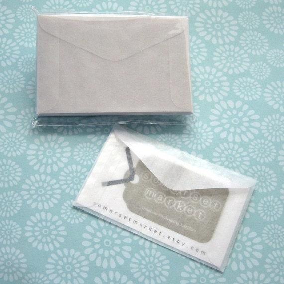 50 Mini Glassine Envelopes 3 5/8x2 5/16 inches