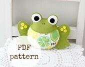 Frog toy PDF pattern