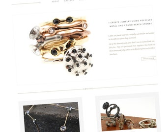 WordPress Shop Website Design - Custom Web Design, Custom Wordpress Web, Blog and Website Design. Jewelry Shop Website, e-Commerce Website.