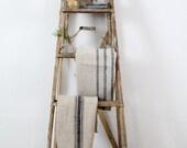 antique painter's ladder, old wood ladder