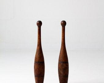 antique juggling clubs / Indian juggling pins / wood meels