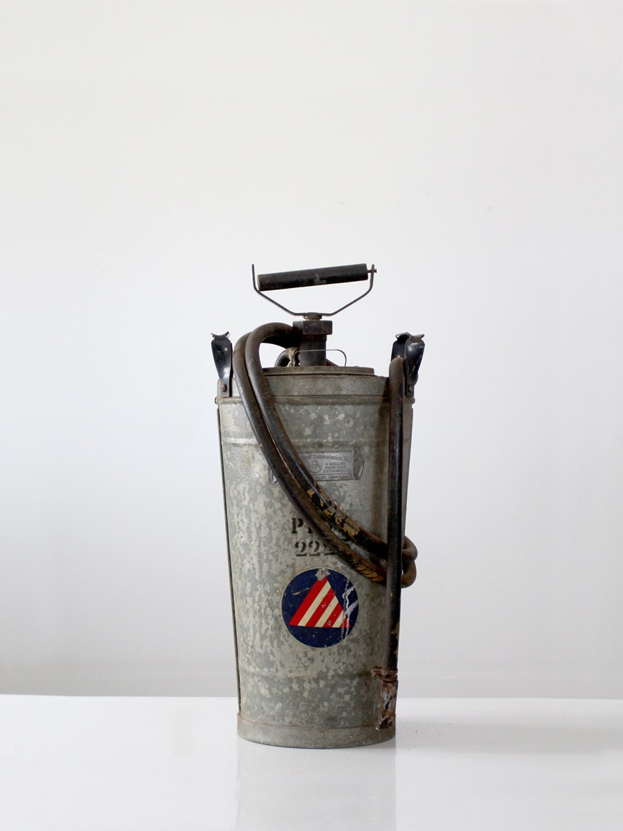 Antique Hand Fire Extinguisher The Fire Fighter