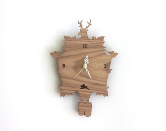 Cuckoo Clock SALE  - Modern Wood Wall Clock