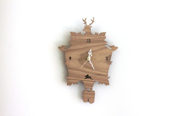 Cuckoo Clock SALE  - Modern Wood Wall Clock
