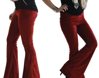 Velvet Bell Bottoms high waisted