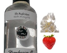 The Right Spot™ Edible Massage Oil - Strawberry 'n' Cream Natural Vegan, water based, sensual warming Romantic Gift w/ Aloe by Eat Me