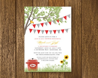 Clambake Party invitation