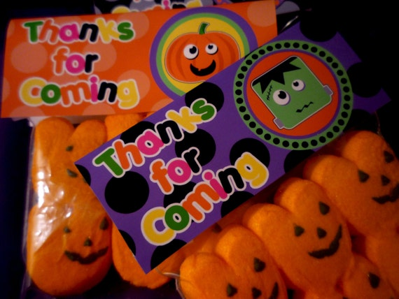 Happy Halloween Party Printable Treat Bag Toppers by OpalandMae
