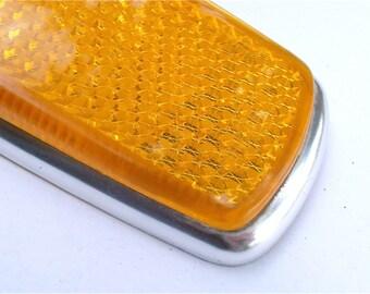 Vintage Amber Front Side Reflector European Car Marker 60s 70s Right Left Light Lens Lamp Mercedes Benz Bmw UL0 302 00 30 SAE P1A 69