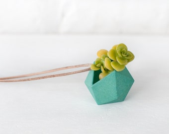 Icosahedron Wearable Planter in Mint