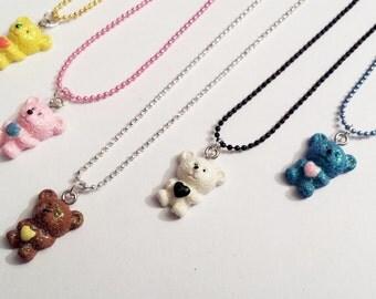 Sale! Teddy bear heart Necklace