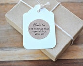 "60  THANK YOU for SHARING this special day with us -1"" Kraft or White  round labels/seals - wedding favor  stickers seals"