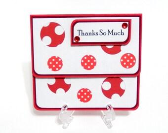 Thanks So Much: Gift Card Holder, Gift Card Envelope, Gift Card Box, Money Holder