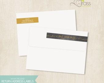DIY printable wrap around return address labels - mr and mrs