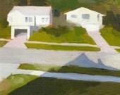 "6x6"" giclee print - landscape - ""Dream House 13"""