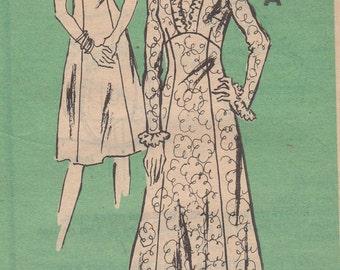 1960's Misses' Dress Mail Order 4550 Size 16 1/2 Bust 39