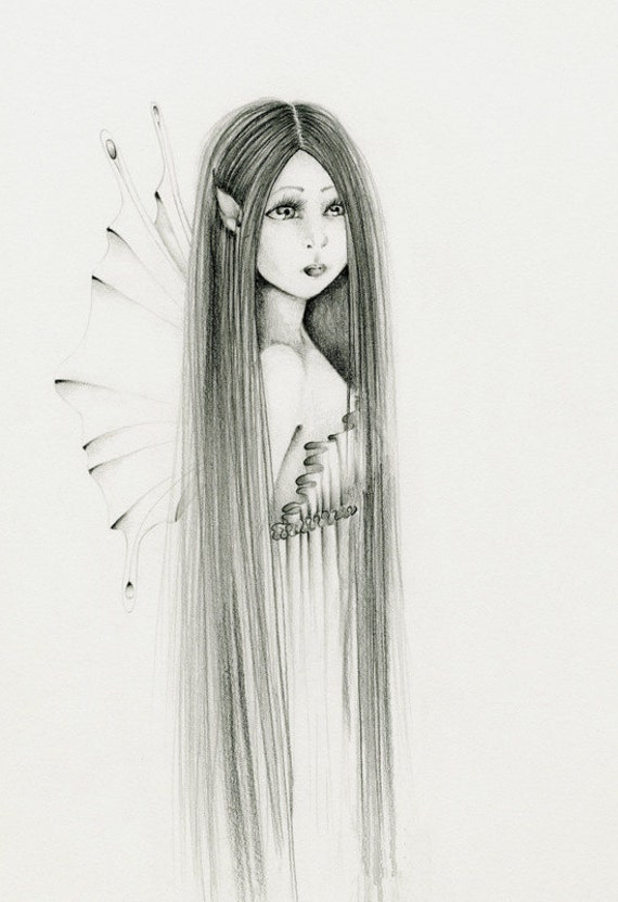 Easy pencil sketches of fairies fairy art pencil drawing