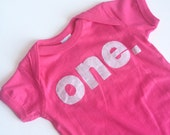 First Birthday Pink Sparkle ONE Bodysuit Shirt