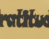 Gratitude, Phrase, Sign, Metal Art, Wall Decor, Metal Wall Art Decor