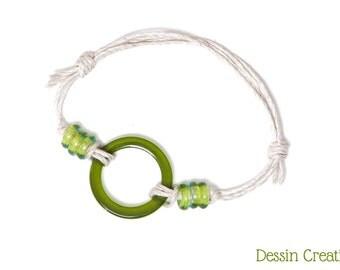 BOHO Wine Bottle Bracelet, Recycled Glass Jewelry, Custom, Vegan Gift, Free Shipping, Dessin Creations