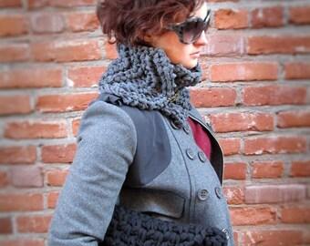 Black knit clutch, chunky knit black bag, bulky knit purse, reversible, crochet bag, crocheted clutch, black crocheted bag
