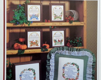 Lauren Brunson FOUR SEASONS Samplers By Color Charts - Counted Cross Stitch Pattern Chart