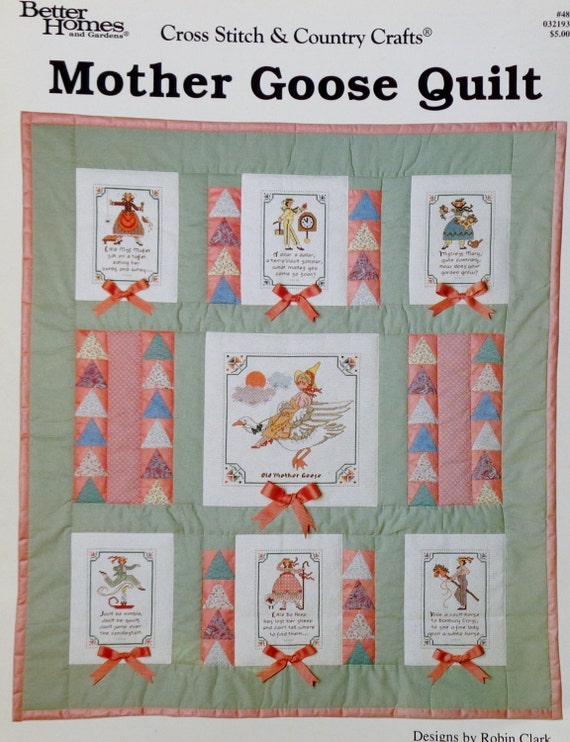 Better Homes And Gardens Mother Goose Quilt Blocks Storybook