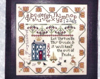 Primitive Reproduction Cross Stitch Sampler Pattern