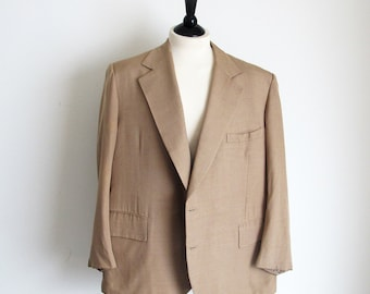 Authentic Burl Ives Suit,  Vintage Men's Beige Silk Suit, Collector's Item