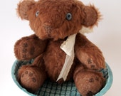 Little bear articulated plushie. Once upon a time. Vintage teddy bear.