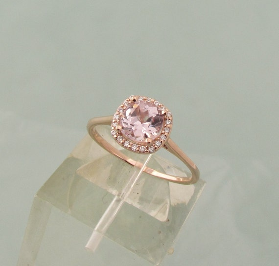 Orchid Pink Champagne Sapphire Engagement Ring by PristineJewelry