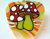 Mushroom Guitar Pick Pendant