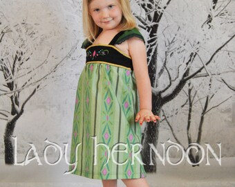Anna's Coronation Summer Dress - Sizes 2T, 3T, 4T, 5, 6, 7, 8 and 10