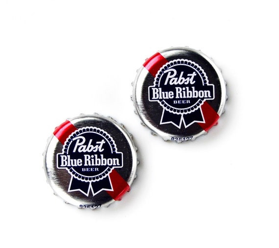 Pabst (R) Bottle Cap Cufflinks - Wedding Gift - Handmade - Gift Box Included