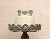 Custom Silhouette Wedding Cake Topper -  Personalized with YOUR OWN Silhouettes