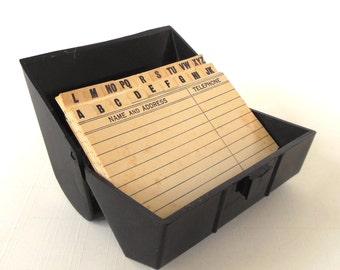 1940s Telephone Address Index File Book Tel-Eze Desk Phone Detroit MI Roman Cleanser Bleach (clamp not included)
