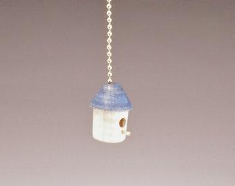 Birdhouse Fan Pull in Maple