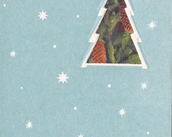 """Vintage """"Happy New Year"""" x2 Card -- 1965, Soviet Artist"""