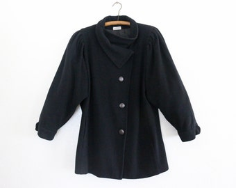 couture wool coat - L